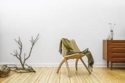 drewniane rozkładane krzesło lotos